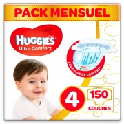 Couches bébé Pack 1 mois/ Taille 4  Huggies