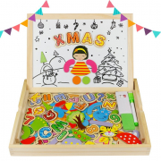 Puzzle en Bois Magnetique Double Face