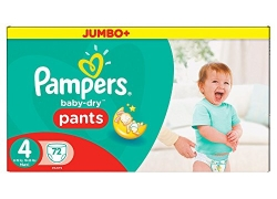 PAMPERS – Couches Baby dry taille 4