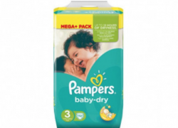 PAMPERS – Méga pack Baby Dry taille 3