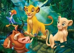 Le Roi Lion Puzzle Simba & Co 30 pcs