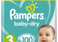 PAMPERS – Taille 3 (6-10 kg)