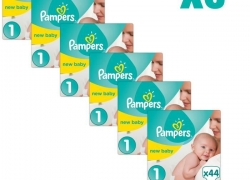 PAMPERS New Baby Taille 1 – PACK 1 mois – 264 couches