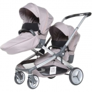 RED CASTLE Poussette Double Evolutwin – Taupe