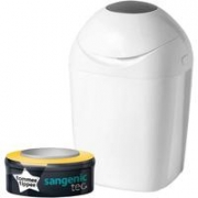 TOMMEE TIPPEE Sangenic Poubelle à Couches TEC – Blanche